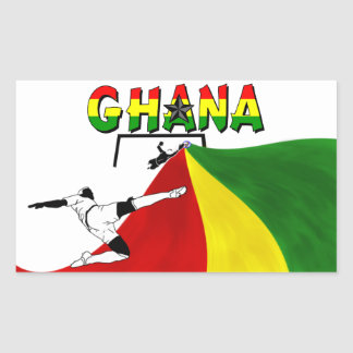 Ghana Rektangulärt Klistermärke