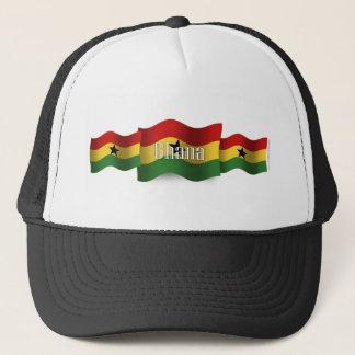 Ghana som vinkar flagga keps