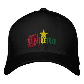 Ghana stjärnaflagga av det Ghana Ghanian locket Broderad Keps