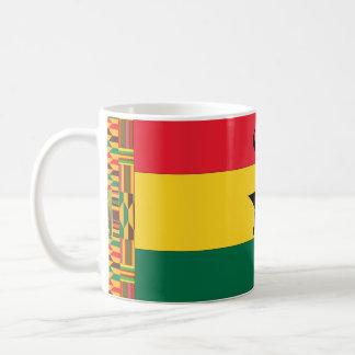 Ghana svart stjärnaflagga kaffemugg
