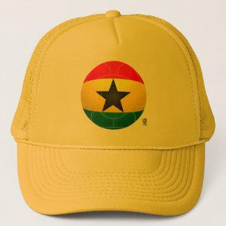 Ghana - svart stjärnafotboll truckerkeps