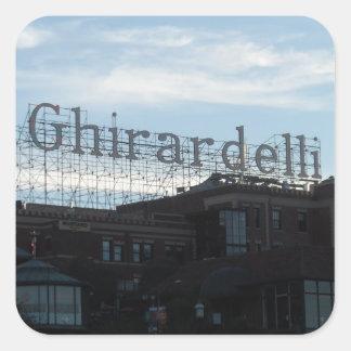 Ghirardelli fyrkantiga San Francisco Fyrkantigt Klistermärke
