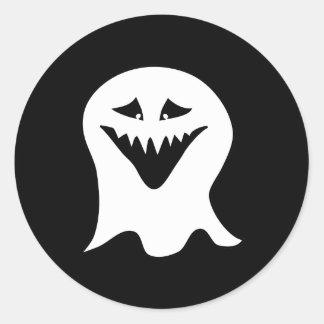 Ghoul. Svart och White. Runt Klistermärke