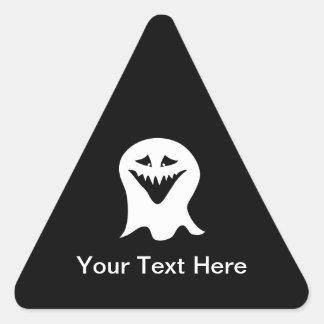 Ghoulspöke. Svart och White. Triangelformat Klistermärke