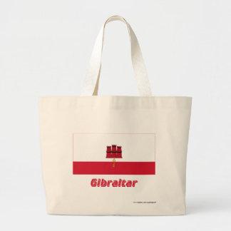 Gibraltar flagga med namn jumbo tygkasse