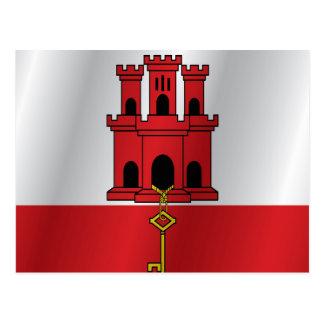 Gibraltar flagga vykort