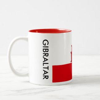 Gibraltar flaggamugg Två-Tonad mugg