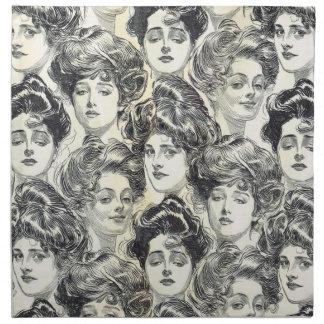 Gibson flickor av Charles Dana Gibson Circa 1902 Tygservett