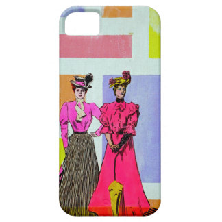 Gibson flickor i ett Mondrian mönster iPhone 5 Skal