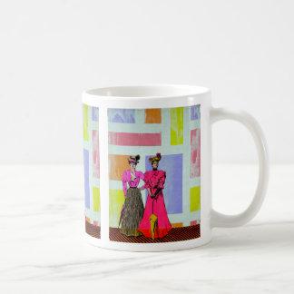 Gibson flickor i ett Mondrian mönster Kaffemugg