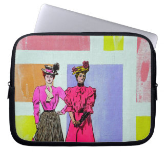 Gibson flickor i ett Mondrian mönster Laptop Sleeve