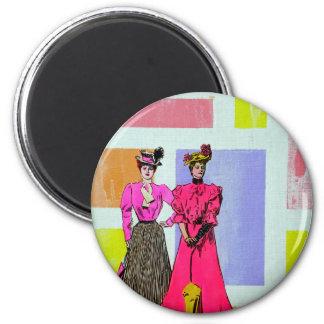 Gibson flickor i ett Mondrian mönster Magnet