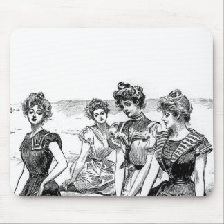 Gibson flickor på stranden musmatta