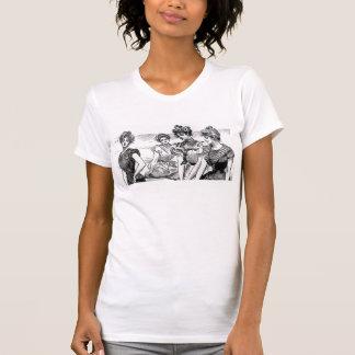 Gibson flickor på stranden tshirts