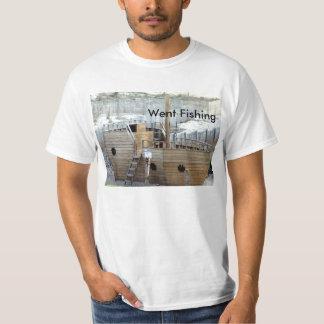 Gick att fiska t-skjortan t-shirts