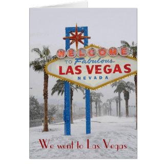 Gick till Las Vegas, fick det förlovade kortet Kort