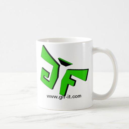Gif-det rånar kaffe muggar