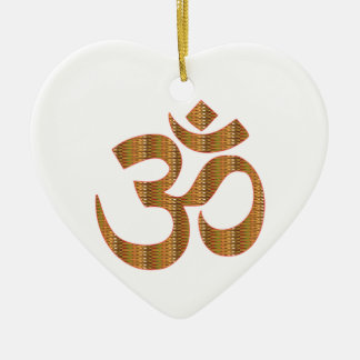 Gif för Hinduism för ramsa för meditation för Hjärtformad Julgransprydnad I Keramik
