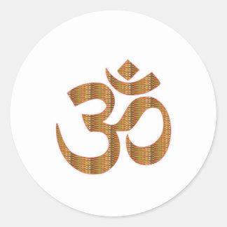 Gif för Hinduism för ramsa för meditation för Runt Klistermärke