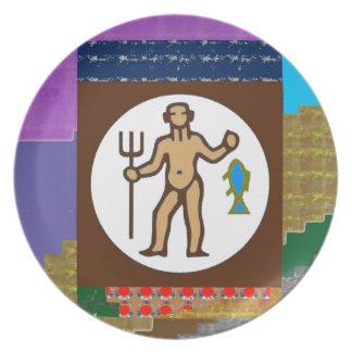 GIF för tecknad för hobby för vild för jägare för Dinner Plates