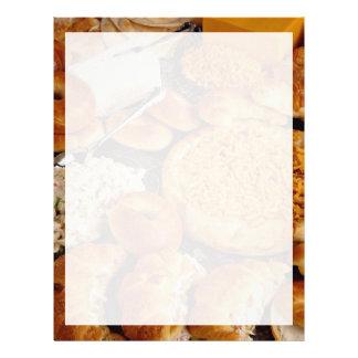 Giffel och platinabröd med havs- sallad brevhuvud