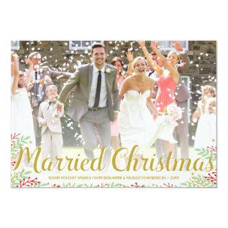 Gift för nygift personhelgdag för jul | kort för 12,7 x 17,8 cm inbjudningskort