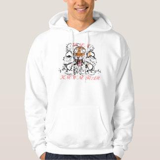 """Gift hoodien """"vet för ingen skräck"""" sweatshirt med luva"""