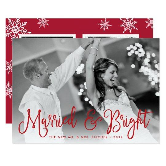 Gift & ljust helgdagfotokort + Tillbaka meddelande 12,7 X 17,8 Cm Inbjudningskort