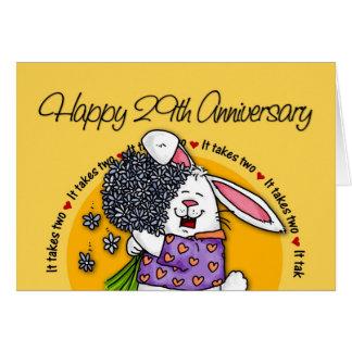 Gifta sig - 29th årsdag för lycklig hälsningskort