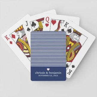 Gifta sig beställnings- brudbrudgum för favör spelkort