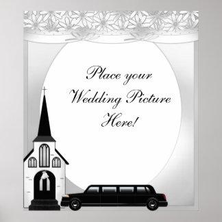Gifta sig bilden med limoen & kyrkan affisch