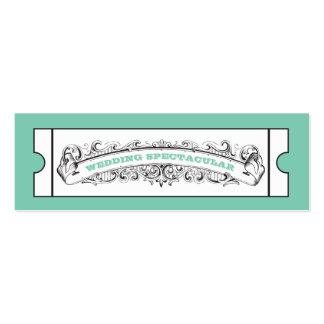 Gifta sig biljetter - Mint Set Av Smala Visitkort