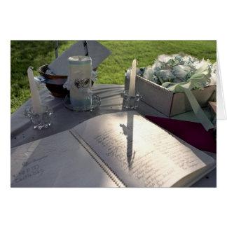 Gifta sig boken - notera kortet OBS kort