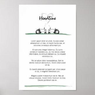 Gifta sig den affisch-/menymallen poster
