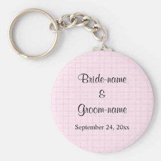 Gifta sig design i blek - rosor kontrollerar och s nyckelring