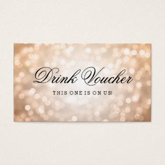 Gifta sig drinkkupongen förkoppra glitterljus visitkort
