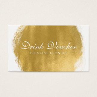 Gifta sig drinkkupongguld måla looken visitkort