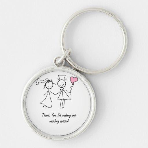 Gifta sig favörgåvan nyckel ringar