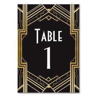 Gifta sig för 20-tal för Gatsby bordsnummer20-tal Bordsnummer