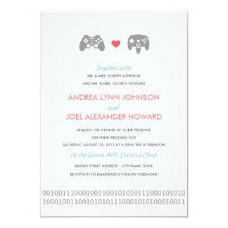 Gifta sig för Gamerkontrollantkärlek 12,7 X 17,8 Cm Inbjudningskort