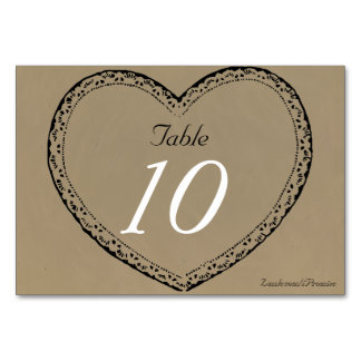 Gifta sig för hjärtor för bröllopbordsnummer lantl