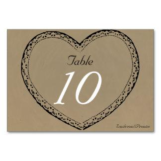 Gifta sig för hjärtor för bröllopbordsnummer lantl bordsnummer