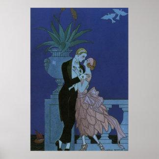 Gifta sig för nygift person för romantik för vinta affisch