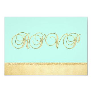 Gifta sig för OSA för elegant MINT för personlig 8,9 X 12,7 Cm Inbjudningskort
