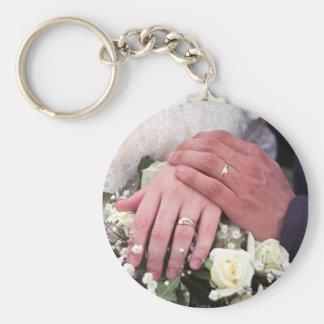 Gifta sig händer #1 - keychain rund nyckelring