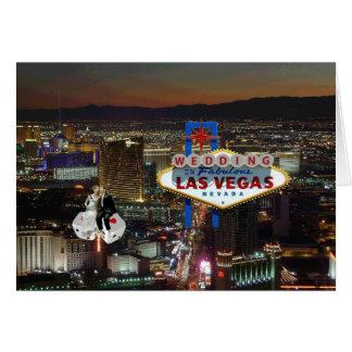 GIFTA SIG i den Las Vegas bruden brudgum som fly Hälsnings Kort