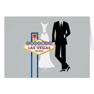 Gifta sig i den Las Vegas bruden & brudgumkort Hälsningskort
