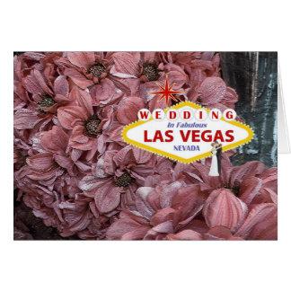 Gifta sig i den sagolika Las Vegas bruden & brudgu Hälsningskort