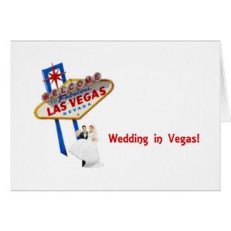 Gifta sig i den Vegas bruden brudgumkort