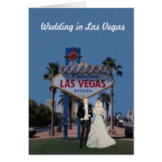 Gifta sig i det Las Vegas kortet Hälsningskort